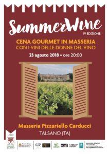 PUGLIA - SUMMERWINE 2018,  Masseria Pizzariello  Talsano (TA) @ Masseria Pizzariello | Taranto | Puglia | Italia