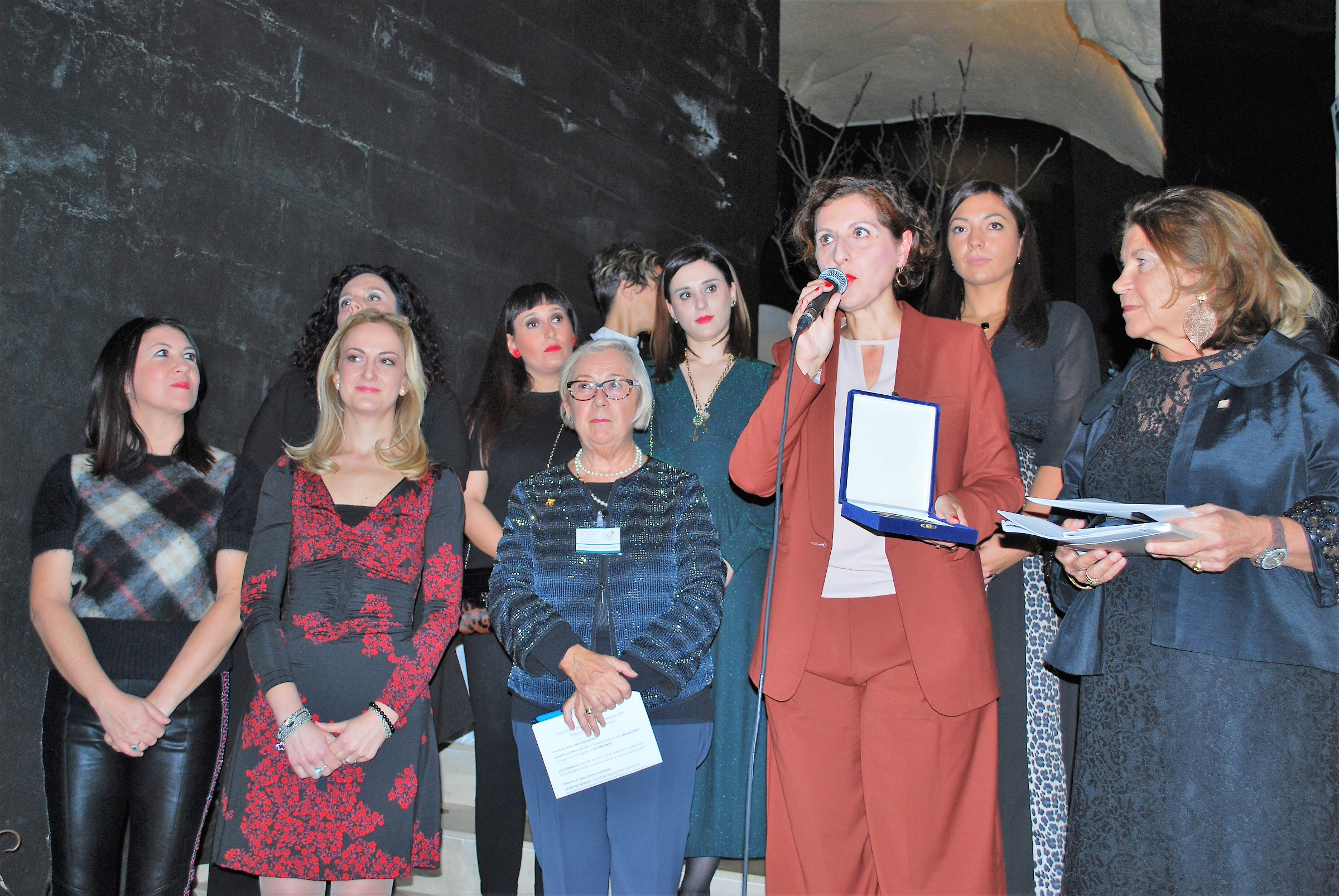 Matera Premio Personaggio dell'Anno a Matilde D'Errico, giornalista e autrice televisiva che da sempre si batte contro la violenza sulle Donne. 16 novembre 2018