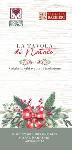Altomonte (CS) HOtel Barbieri    LA TAVOLA DEL NATALE - Degustazione @ Hotel Barbieri | Altomonte | Calabria | Italia